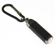 Tiny Black Pocket Light Torch Adjustable Beam Width LED. Batteries included Tackle Accessories