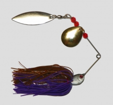 14 Gram Spinnerbait Lure Brown Blue. Suit most freshwater estuary fishing Spin Fishing Lures