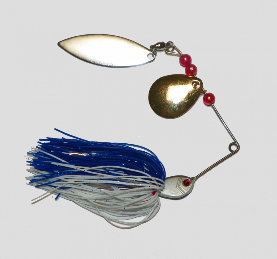 14 gram spinnerbait lure white blue for aud for School of fish lure