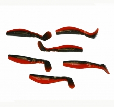 6 x 8cm Soft Plastic Swimbait Lures Redfin Fishing
