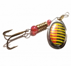3 Gram Spin Lure Gold Red Black. Suit Ultralight Fishing Rod Spin Fishing Lures