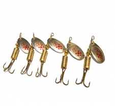 5 Pack Spin Fishing Lures